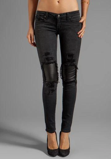 Photo of Skinny jeans Leather Joggers