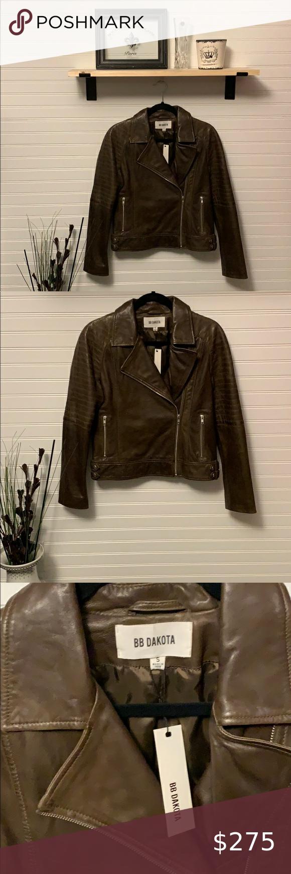 Bb Dakota Leather Biker Jacket Leather Biker Jacket Jackets Biker Jacket [ 1740 x 580 Pixel ]