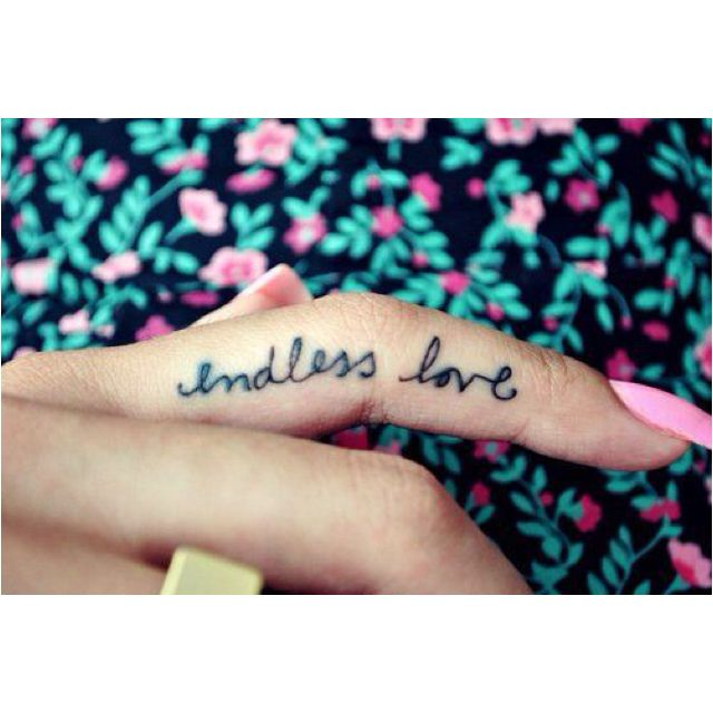 Cute tattoo and love the font. Would be cool on wedding ring finger for our anniversary tats.