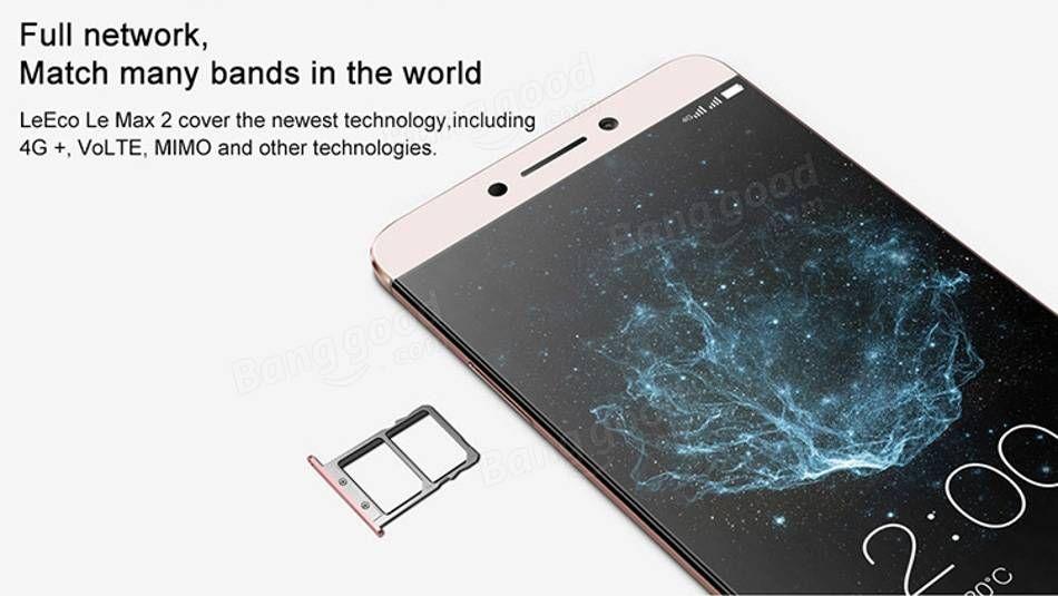 LeTV LeEco Le Max 2 X820 5.7 inch 4GB 32GB Snapdragon 820 Quad core 4G Smartphone Sale - Banggood.com