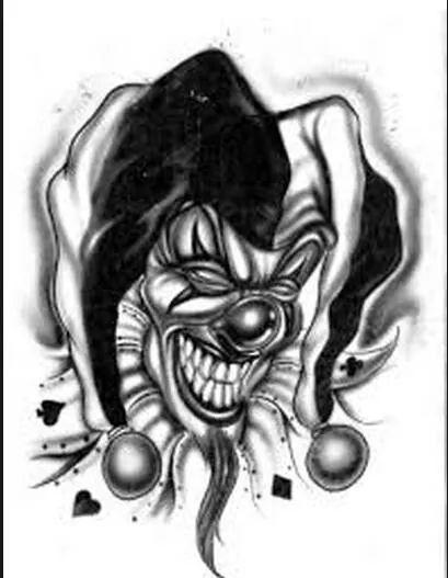 Pin By Darla Boyles Holt On Dark Creepy Clown Tattoo Jester Tattoo Joker Drawings