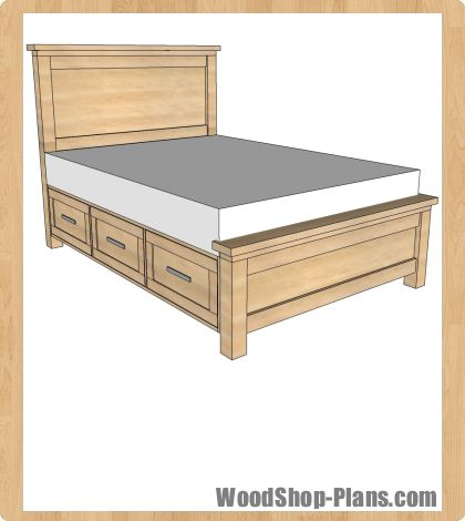 storage bed woodworking plans | Potential Projects | Pinterest ...