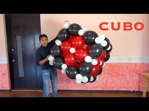 Como Hacer Guirnalda Alternada Con Globos 2 Medidas 37 Youtube Como Hacer Un Cubo Globos Diseños De Globos