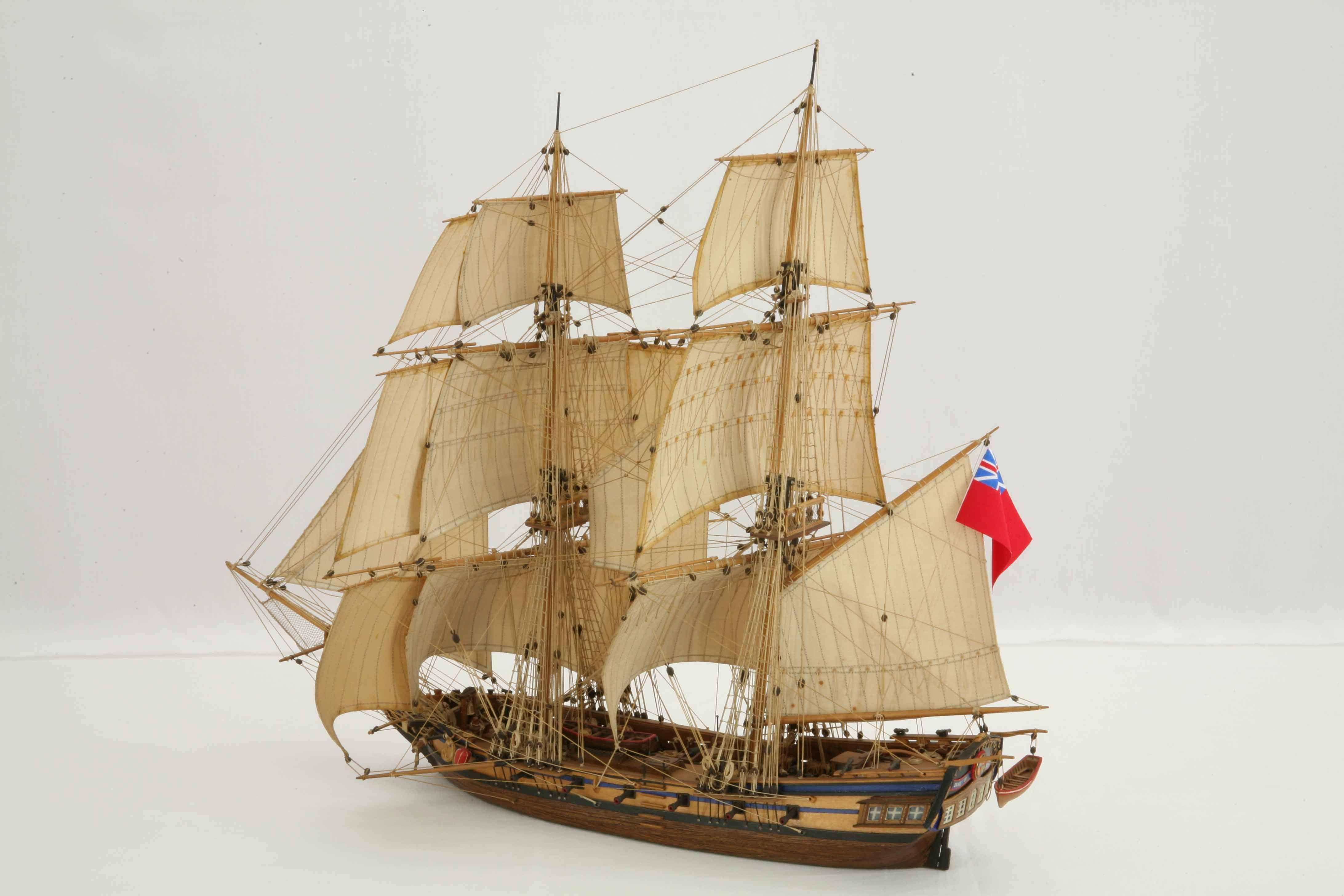Schiffsmodell englische Brigg DUKE OF BEDFORD von 1750