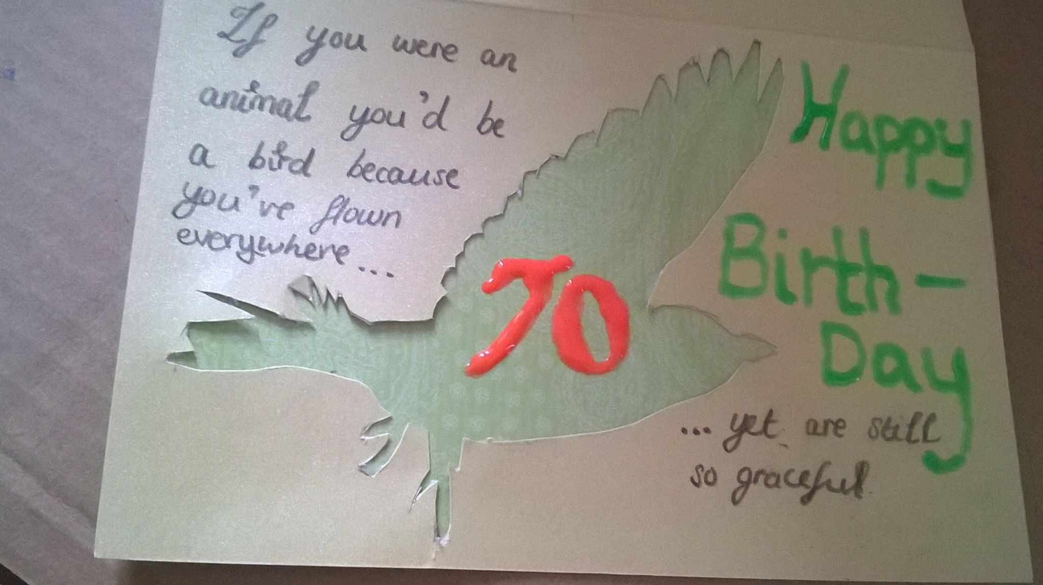 Birthday Card For 70th Birthday If You Were An Animal You D Be A