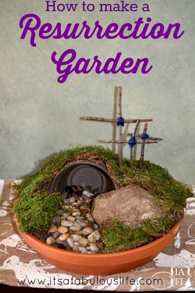 Superb Easter Garden Craft Ideas Part - 5: Easter DIY How To Make A Resurrection Garden - My Kiddos And I Did One  Together