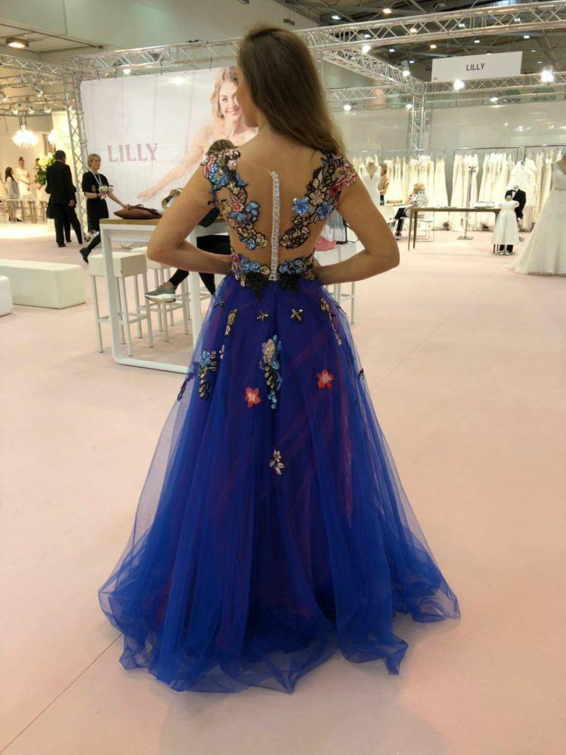 Dlhé luxusné spoločenské šaty 2018 - 2019 Adelise  de07e4b1cf1