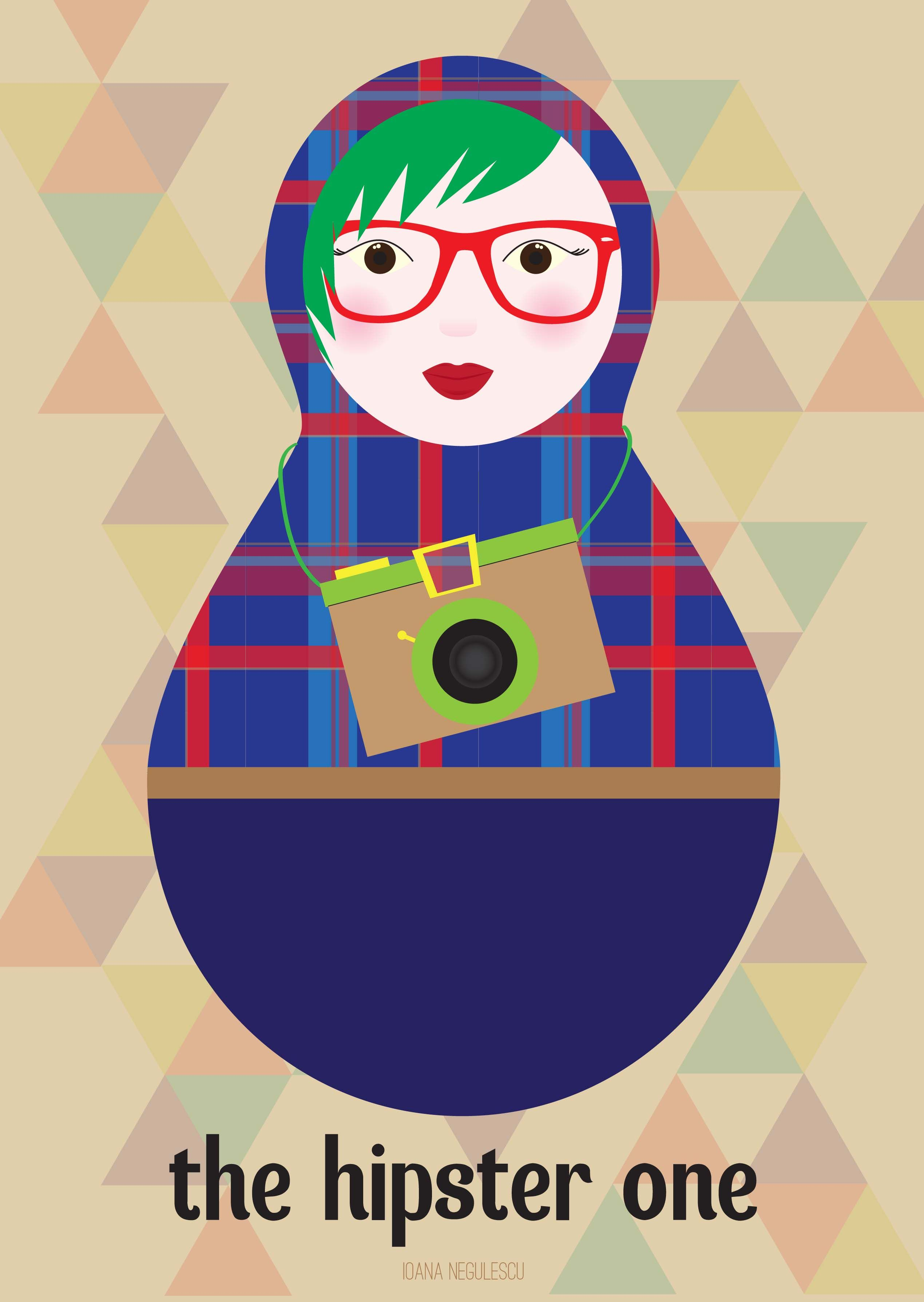 a hipster #russiandoll today keeps the dullness away