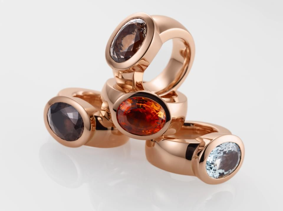 Frstin Juliane Rings are made of 18 carat solid rose gold ring with
