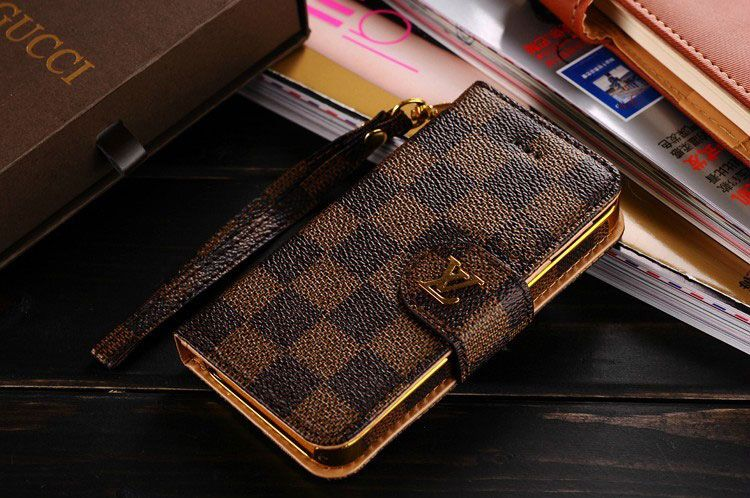 Leather lv iphone 7iphone 8 wallet case coffee louis