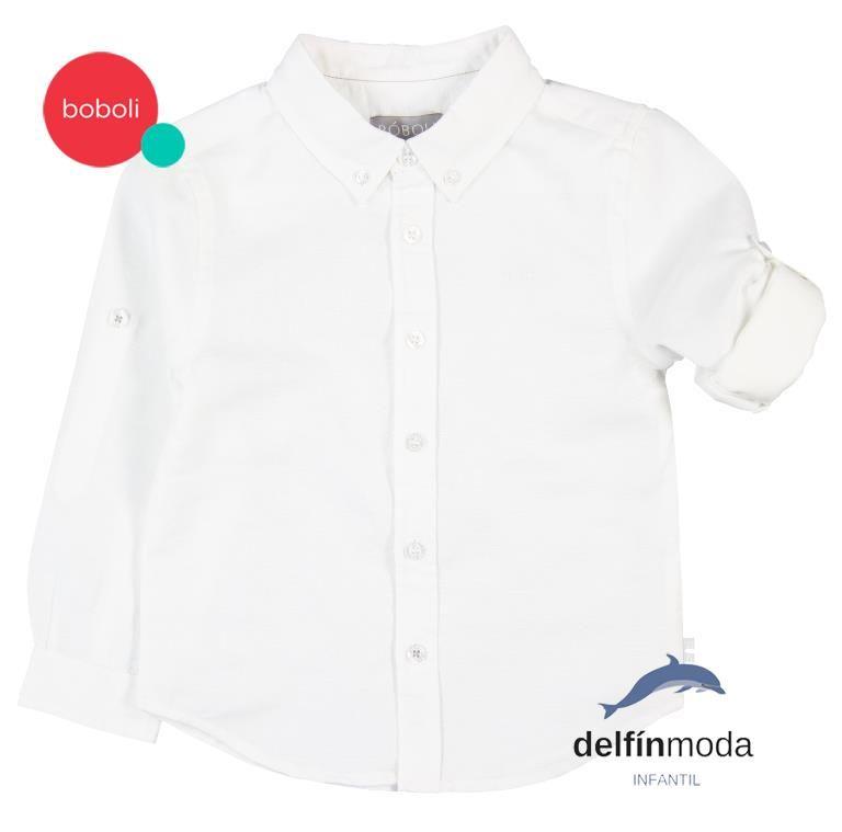 41aaf6c4e Camisa de manga larga para niño de BOBOLI lino lisa