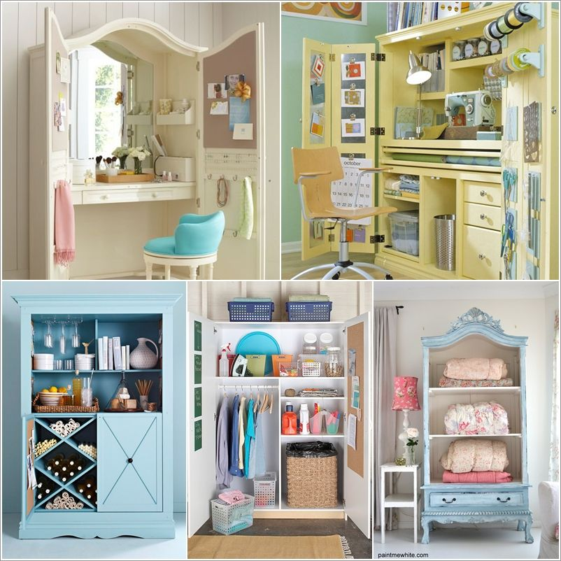 15 fantastic ideas to repurpose an old armoire armoire on fantastic repurposed furniture projects ideas in time for father s day id=98710