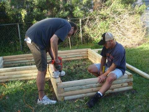 Building Raised Flower Beds Landscape Timbers Ideas For Mom S
