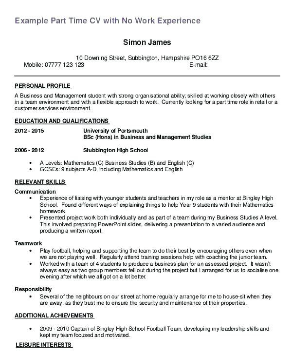 resume examples for year 9 students  resume templates