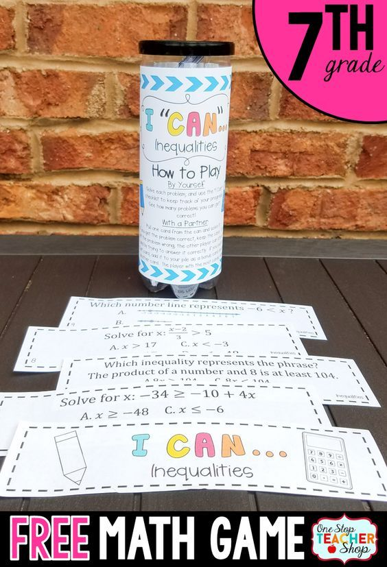 7th Grade Inequalities Game | I CAN Math Games | Happy