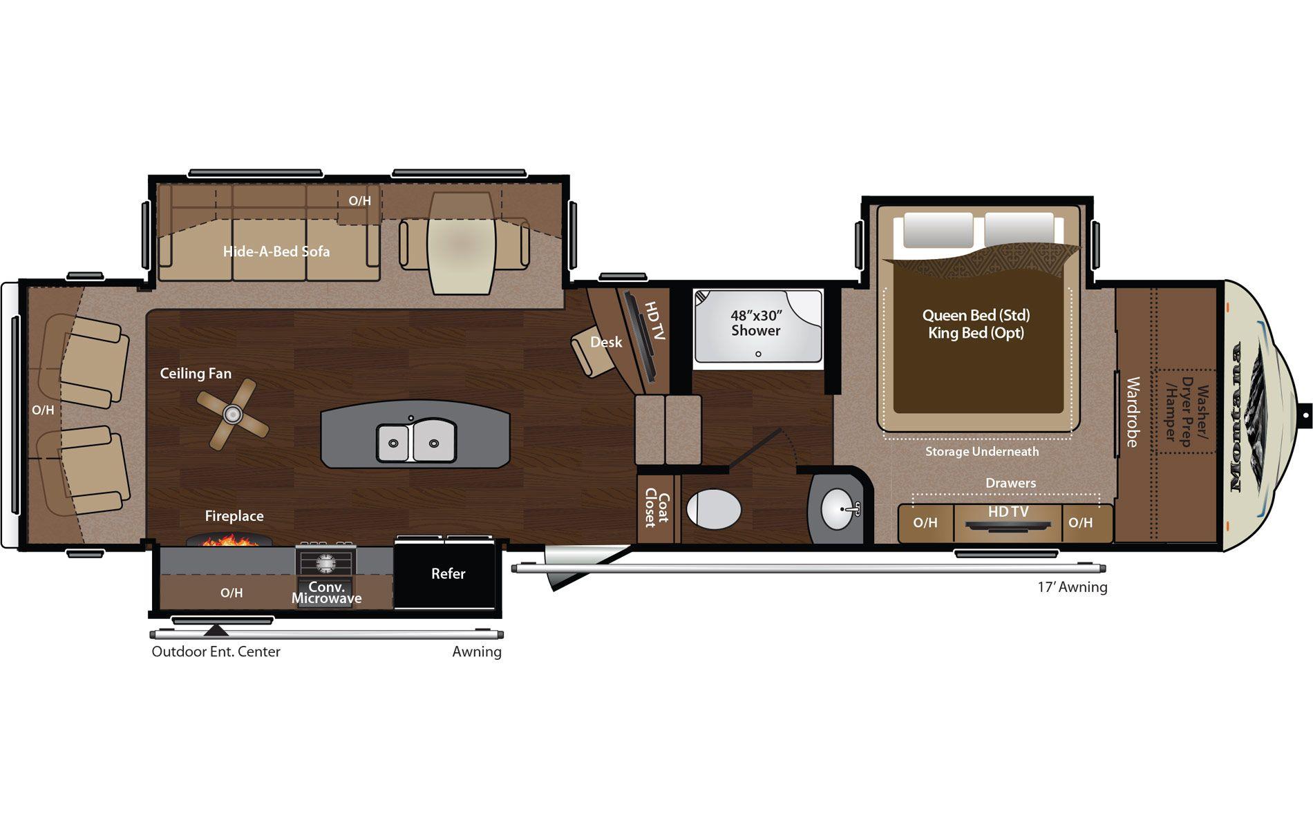 Keystone Montana 3155RL 5thwheel camping rving rv