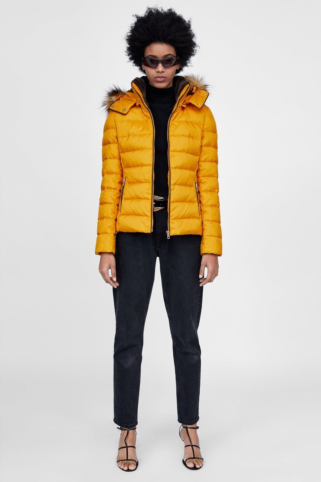 Image 1 of HOODED DOWN PUFFER JACKET from Zara | Jackets ...