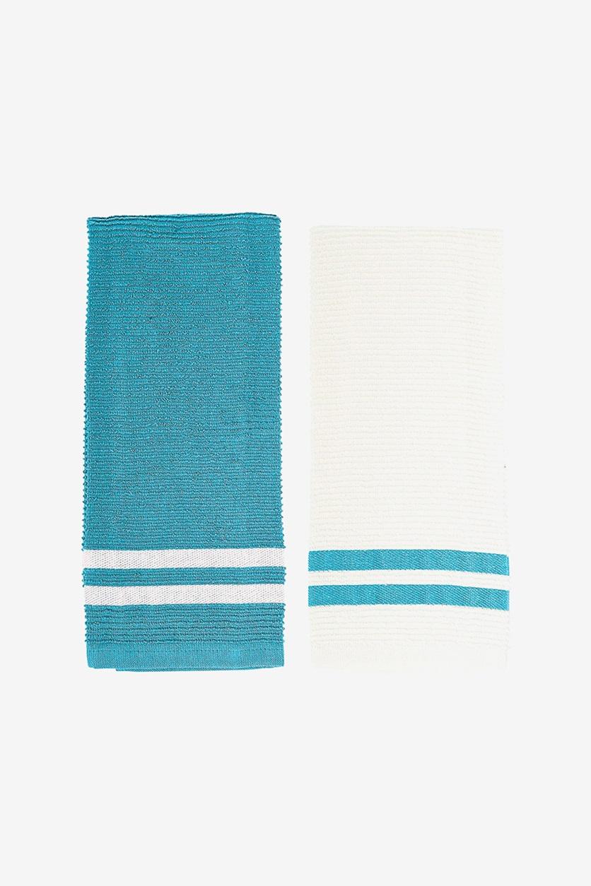 Download Wallpaper Blue White Kitchen Towels