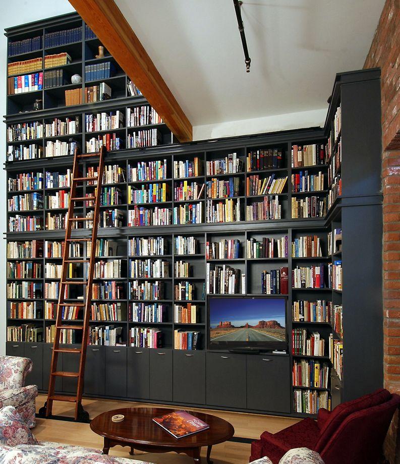 Fantastic Custom Home Libraries Great Custom Home Libraries Design Big Ebony Bookcase Floral