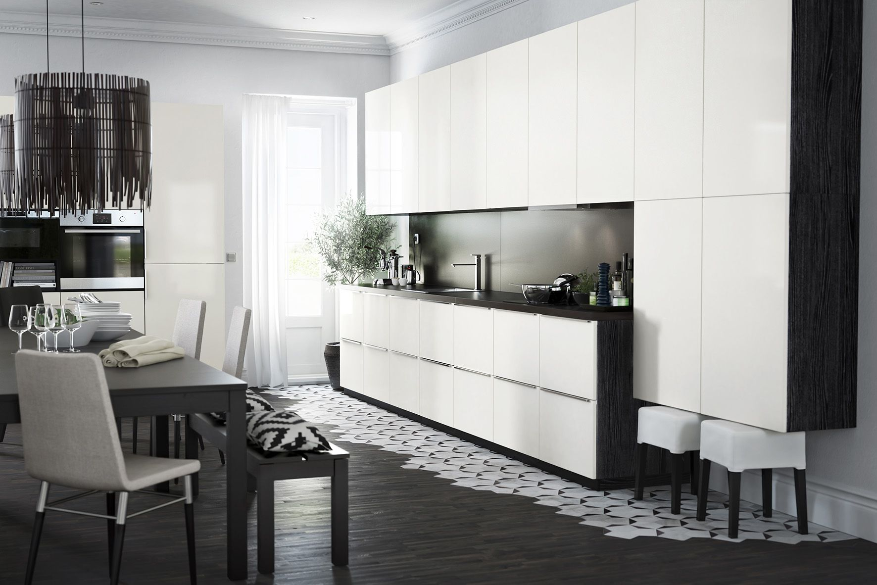 Nieuwe keukensystemen METOD van Ikea. Witte Ikea keuken #keukens ...