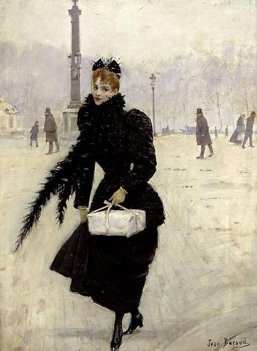 J. Beraud, Parisienne, Place de la Concorde,1890