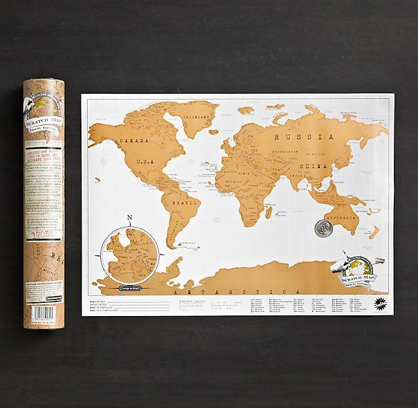 Scratch Off Map Prints I Love Pinterest Minis Gift and Walls