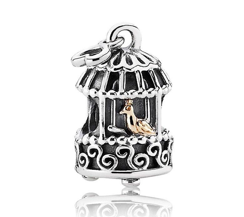Pandora Birdcage Charm based on a Hans Christian Andersen fairytale