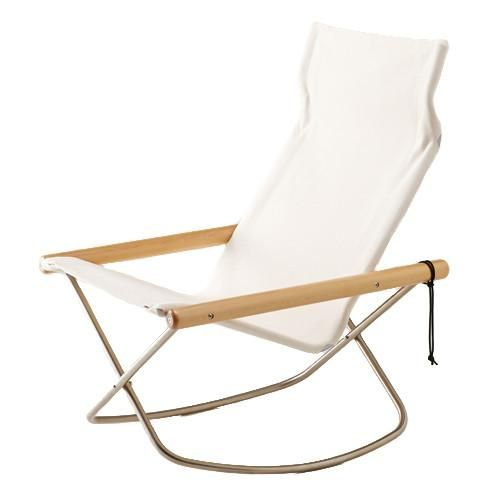 Designer Takeshi Nii S Classic Folding Chair Mid Century Rocking Chair Won Many Awards And Became A Permanent Fe Chair Mid Century Rocking Chair Rocking Chair