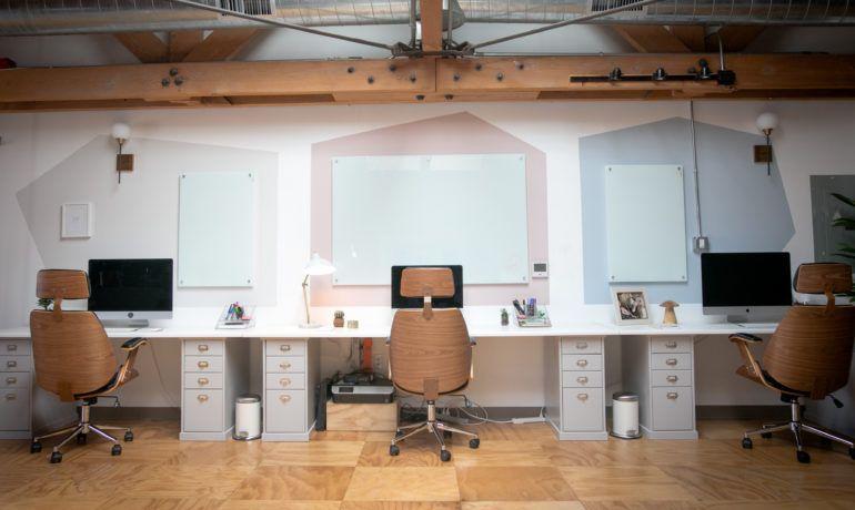 Diy Geometric Whiteboard Wall Office Makeover Interior Design