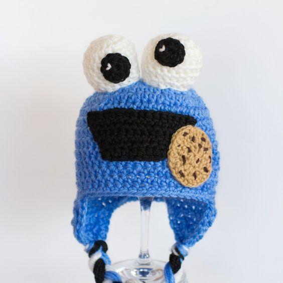 Cookie Monster Inspired Baby Hat Crochet Pattern | Pinterest