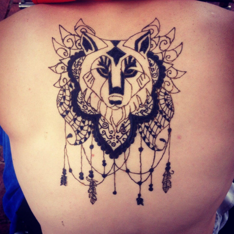 Black Henna Wolf Tattoo By Lycantheran On Deviantart Neck Tattoo Tattoos Wolf Tattoo Design