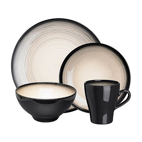Rocha.John Rocha Dark grey \'Shade\' sixteen piece dinner set- at ...