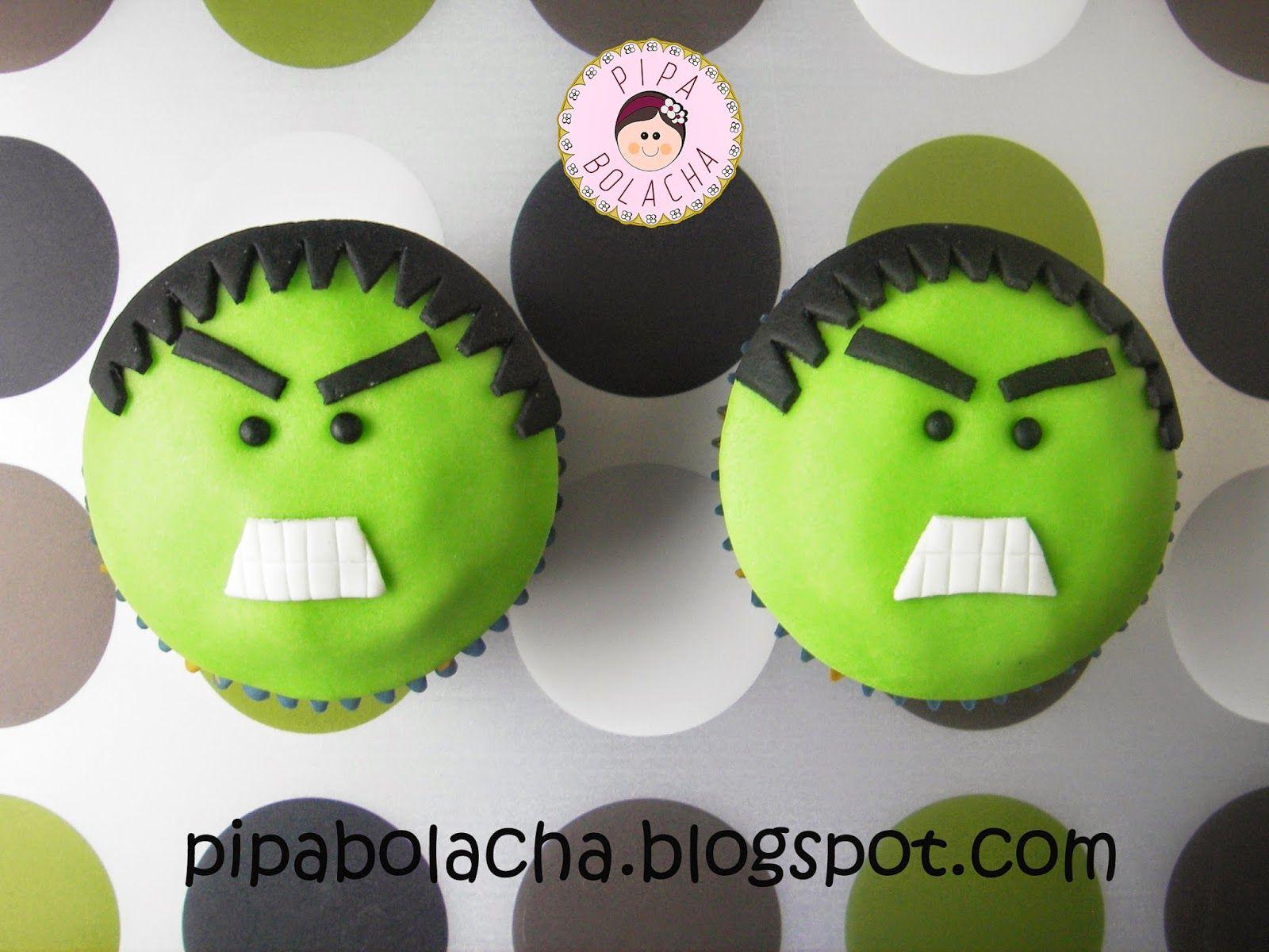 how to make incredible hulk cupcakes