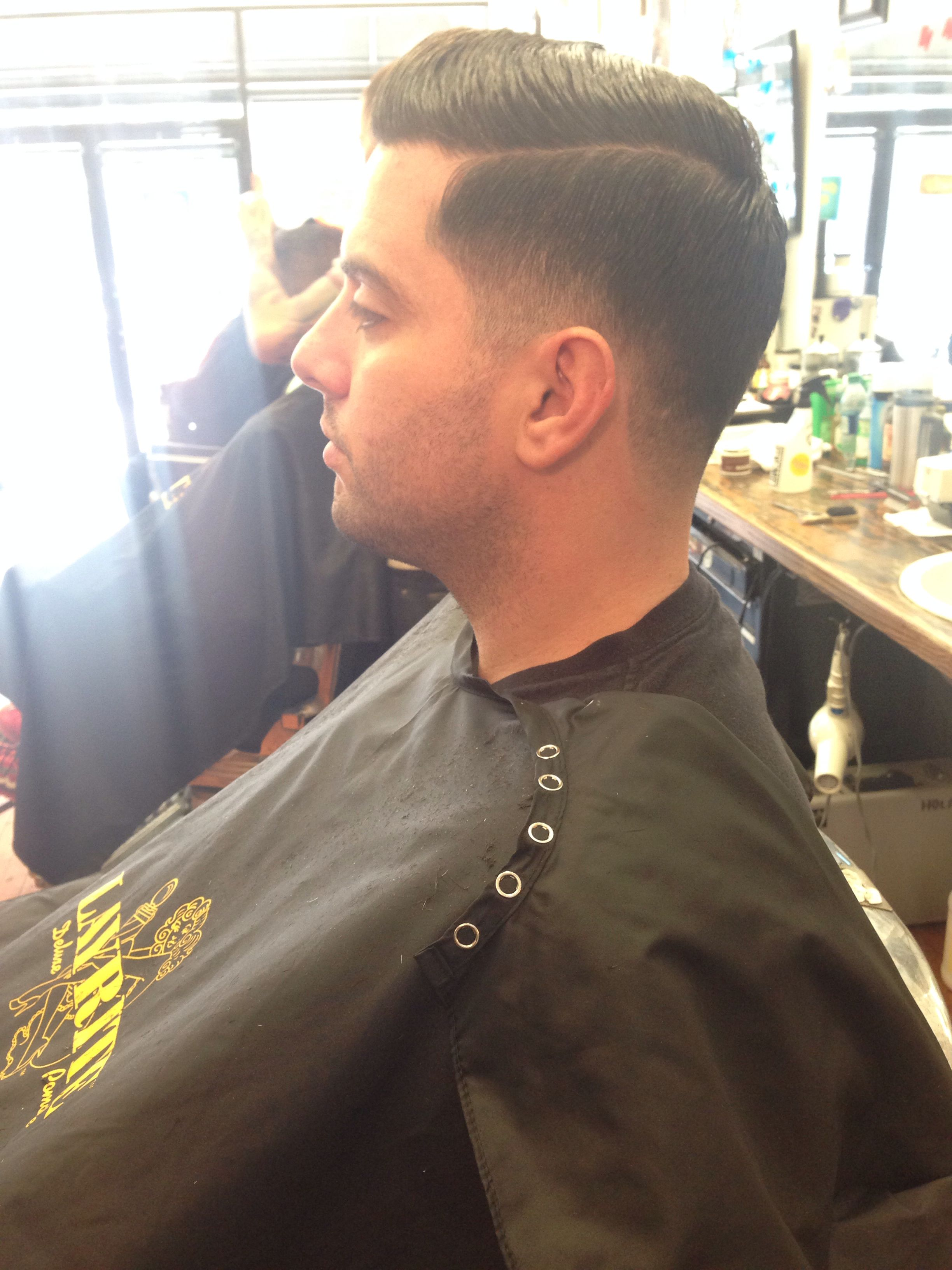 Traditional Tapered Mens Haircut On A Chicago Police Officer