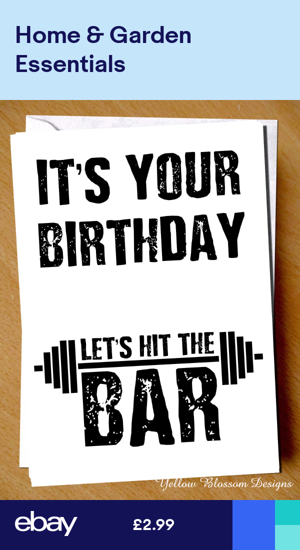 Funny Birthday Card Gym Weight Lift Fitness Exercise Workout Bodybuilding Muscle Funny Birthday Cards Birthday Cards For Men Happy Birthday Wishes Cards