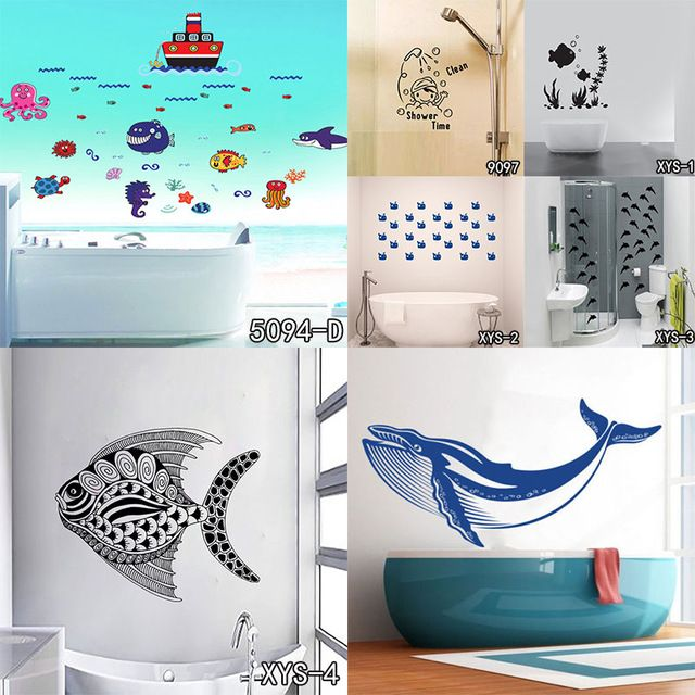 Home decor kids bathroom decor cartoon nursery removable diy sticker free shipping in wall stickers from home garden on aliexpress com alibaba group