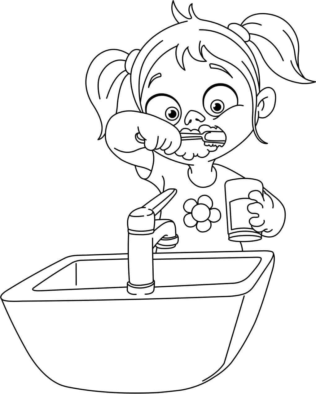 bildergebnis für ausmalbilder zaehne putzen  coloring