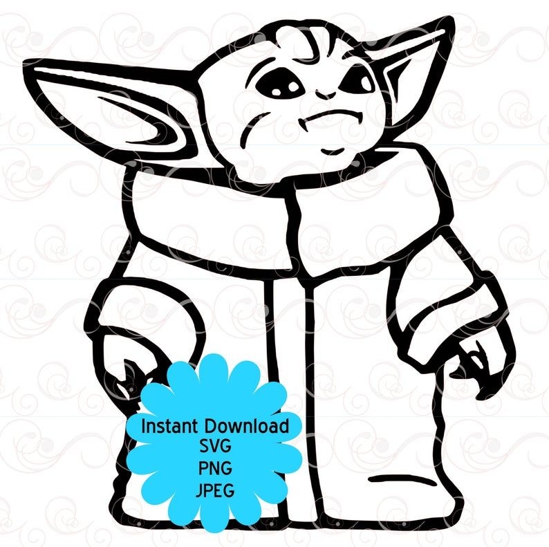 Baby Yoda Svg The Child Svg Mandalorian Baby Yoda Svg Star Etsy Star Wars Crafts Yoda Yoda Images
