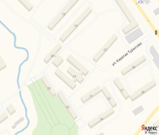 Подробная карта Тараза (Казахстан) с улицами и номерами ...