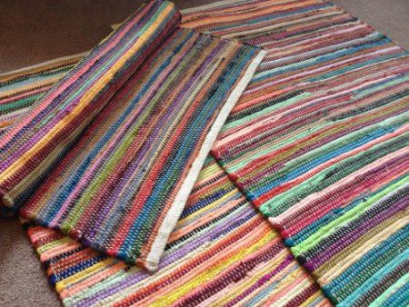 Fabulous Hand Loomed Multi Colours Recycled Cotton Rag Rug 70cm X 140cm Co Uk Kitchen Home