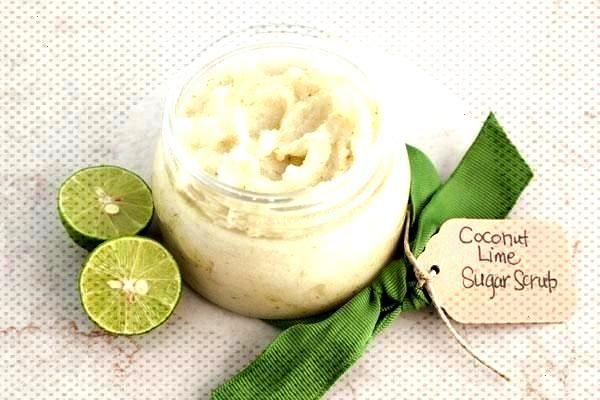 Lime Sugar Scrub | Imperial Sugar Coconut Lime Sugar Scrub for a St. Pattys day teacher gift! Refr