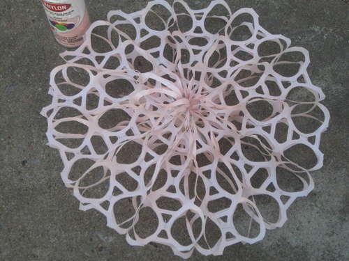 6 Pack Snow Flake Hanger Crafts Plastic Rings Crafts Snowflakes