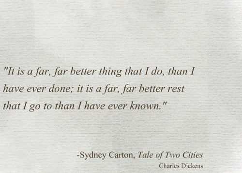 Sydney Carton - A Tale Of Two Cities By Charles Dickens  Beautiful Words, Book Quotes, Poetry Words