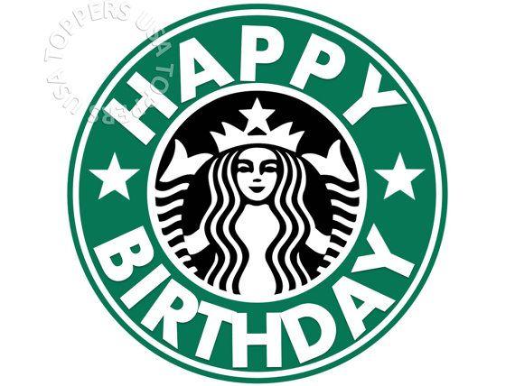 graphic regarding Starbucks Logo Printable referred to as EDIBLE Starbucks Brand Cake Topper Wafer Paper Sheet through