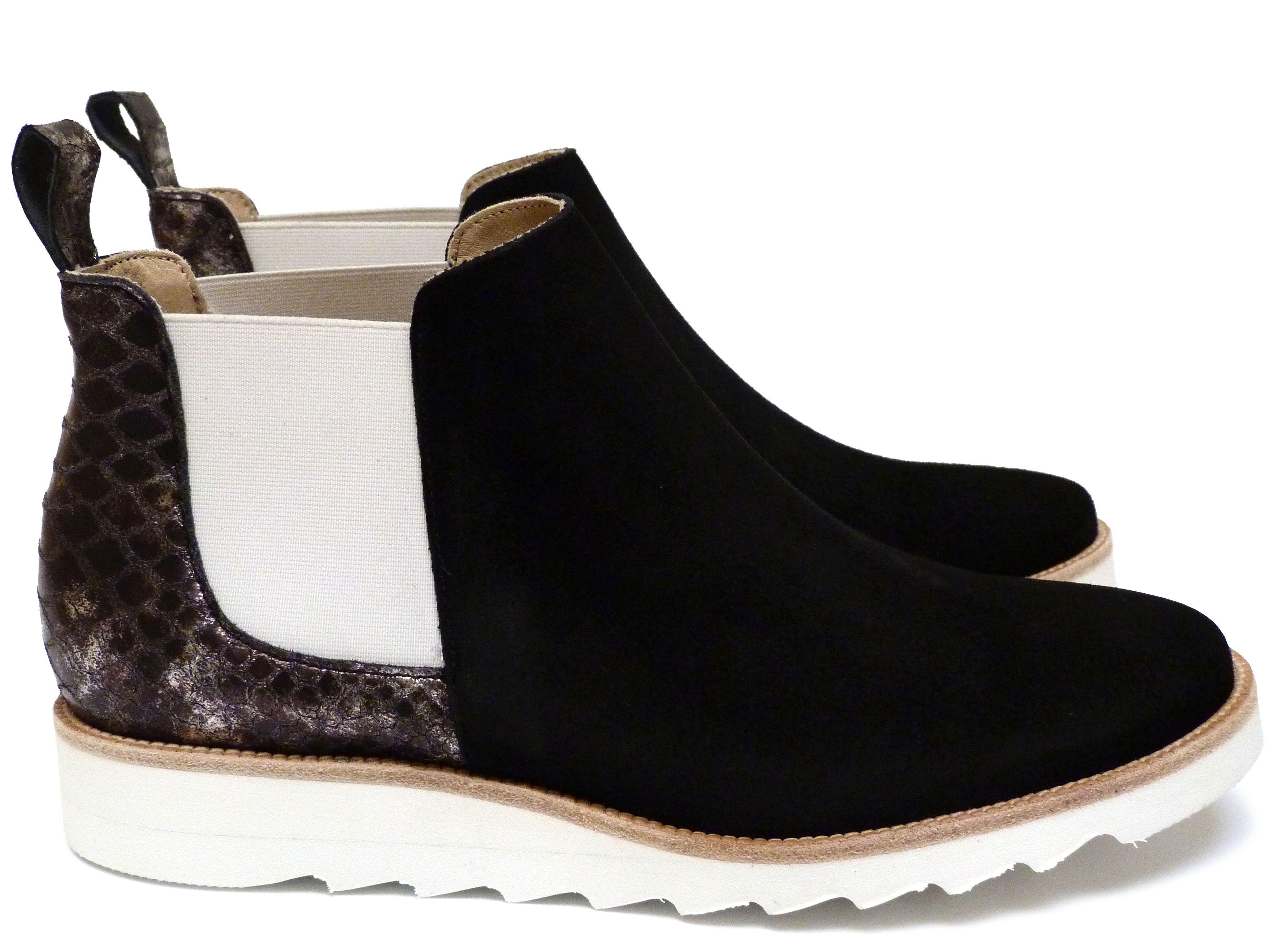 4b8e038bdfb Chaussures Femme Boots Printemps Eté 2015 Maurice Manufacture BRENDA Chèvre  velours noir - Cristaux noir