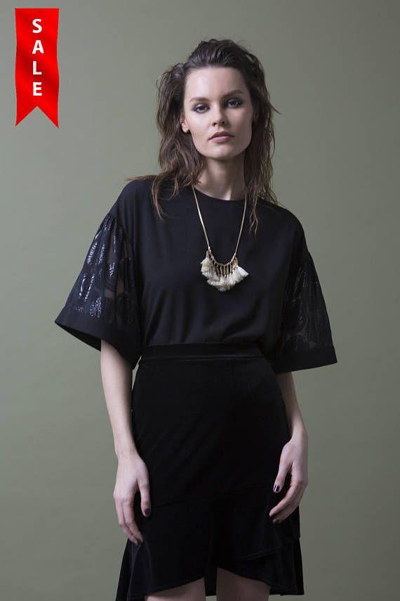 dc9600f8f44b0 Oversize Black Silk Blouse