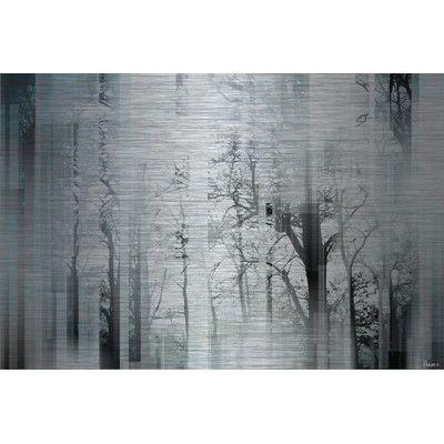 """ParvezTaj 'Wild Trees' by Parvez Taj Painting Print Size: 40"""" H x 60"""" W"""