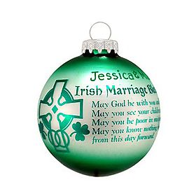 Irish marriage blessing ornament   First Christmas!