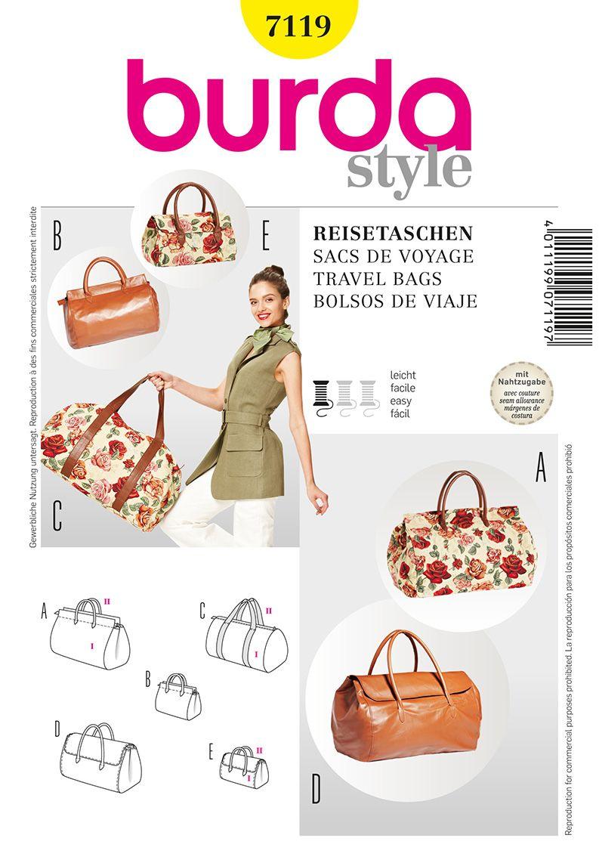 Burda 7119 Travel Bags