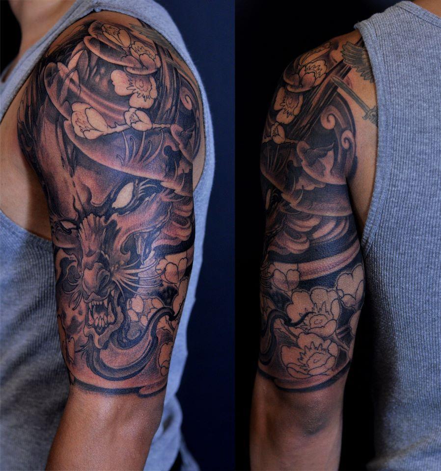 Chronic Ink tattoos, Toronto Tattoos - Dragon half sleeve ...
